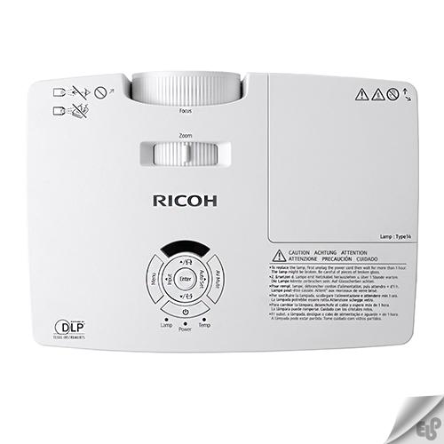 بررسی روشنایی و پورت های ویدئو پروژکتور ریکو Ricoh PJ HD5450