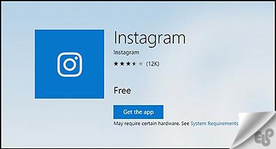 برنامه Windows Instagram App
