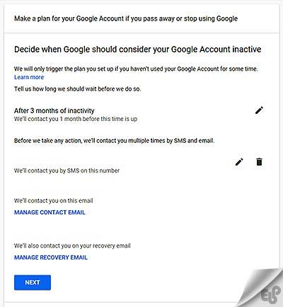 آموزش نحوه حذف اتوماتیک گوگل اکانت پس از مرگ