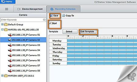 آموزش تنظیمات ضبط دوربین مداربسته در نرم افزار مدیریت تصاویر EZStation