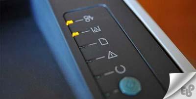 معنای چراغ های چشمک زن در پرینتر اچ پی HP