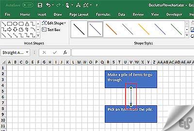 آموزش نحوه رسم فلوچارت در اکسل Excel