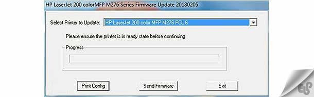 نحوه آپدیت فریمور پرینتر اچ پی Hp M276nw