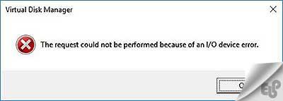 پیغام خطای I/O device error در هارد اکسترنال