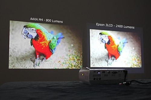 بررسی انسی لومن یا شدت روشنایی در ویدئو پروژکتور