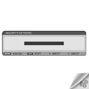 مراحل تنظیم رمز عبور برای ویدئو پروژکتور NEC