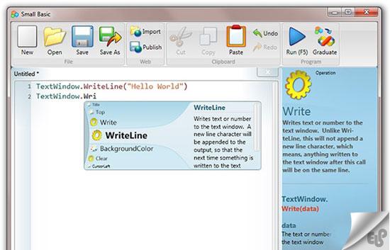 Microsoft Small Basic (مایکروسافت اسمال بیسیک)